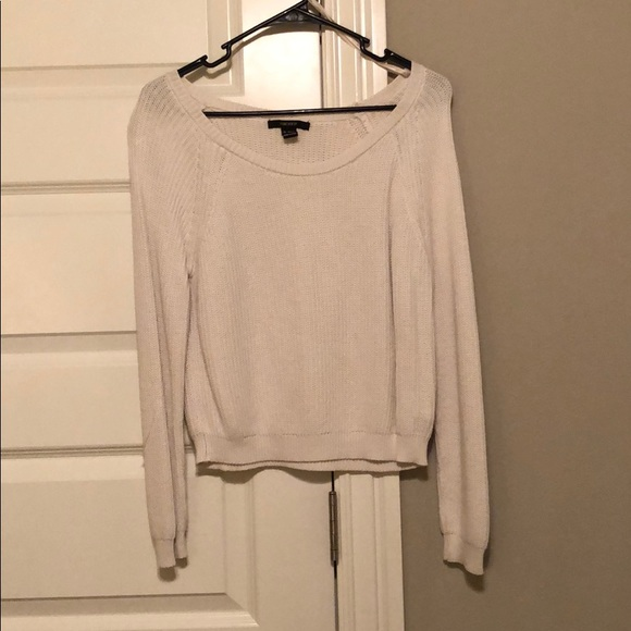Forever 21 Sweaters - white knit sweater